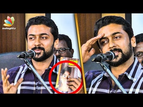 Voice your Opinion on Educational Issues : Suriya Emotional Speech | Agaram Foundation