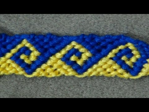 � Friendship Bracelet Tutorial 34 - Intermediate - The Greek Wave