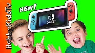 HobbyDad SURPRISES Kids with Nintendo Switch! We Play Video Gaming with HobbyKids