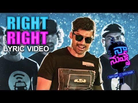 Naa Nuvve - Right Right Right Telugu Lyric | Nandamuri Kalyan Ram | Tamannaah | Sharreth | Jayendra