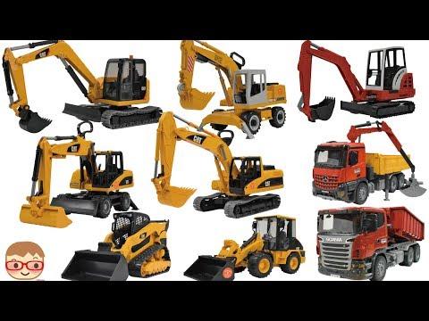 Excavator videos for children | Trucks for Kids | Construction trucks for children |   bruder toys