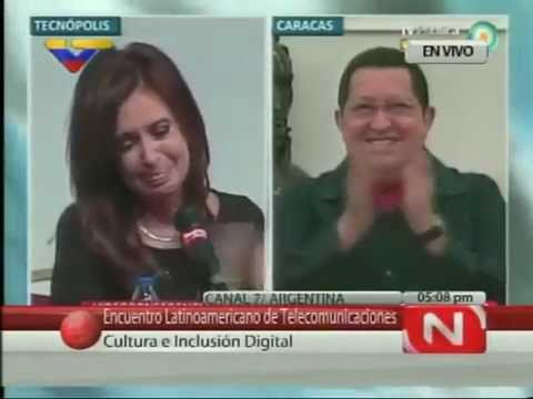 Ch ávez hace llorar a Cristina Kirchner