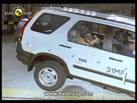 Euro ncap honda cr v 2002 crash test youtube for Honda crv crash test