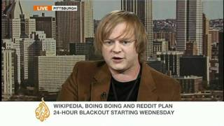 Boing Boing editor speaks to Al Jazeera about SOPA and PIPA