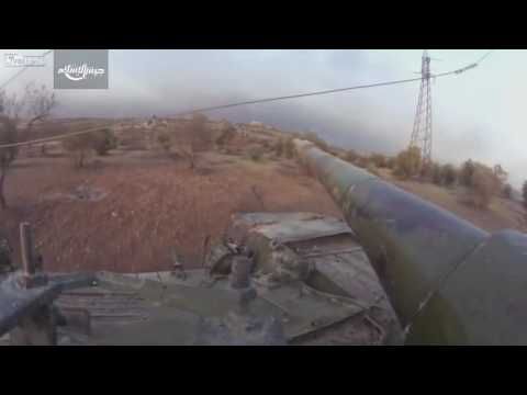 Jaish Al Islam FPV Tank Footage during Aleppo Offensive
