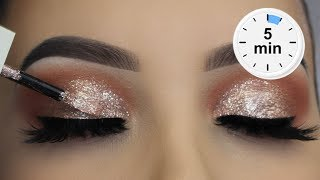 5 Minute Glitter Eye Makeup | Easiest Glitter Look Ever Version 2.