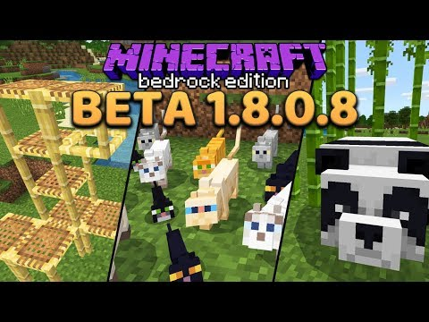 Minecraft 1.14 Preview: Pandas, Bamboo, Cats & Scaffolding (Bedrock Beta 1.8.0.8)