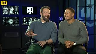 Ben Affleck and Ray Fisher talk about how hard it is to keep Justice League secrets to themselves