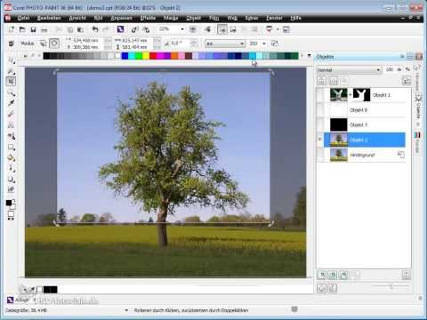 Corel PHOTO-PAINT Tutorial - Bilder beschneiden, Bildausschnitte festlegen