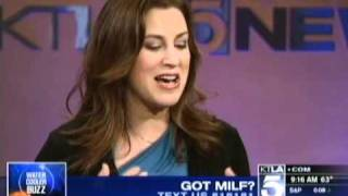 Sarah Maizes - Got MILF? ( KTLA - Water Cooler Buzz (April 6th 2011)
