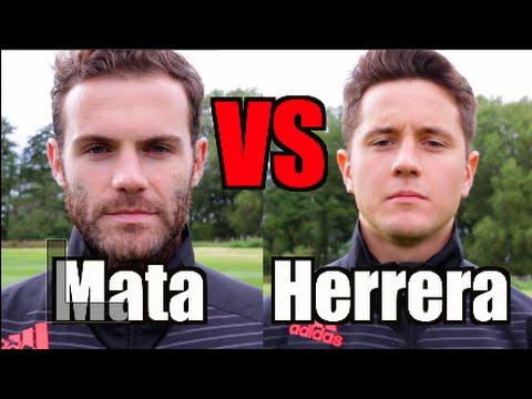 Ander Herrera and Juan Mata crossbar challenge