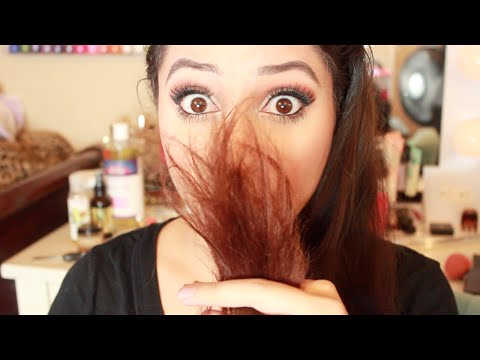 How-To: Get Rid of SPLIT ENDS + DIY Hair Mask For DAMAGED Hair