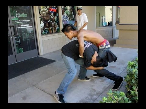 Two dudes fight over a game!