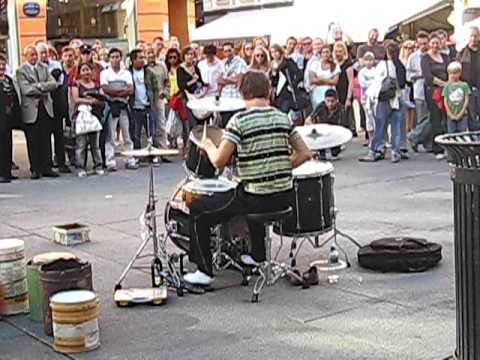 amazing Drummer... street performer Music Videos