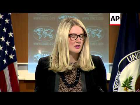 A purported statement by the Islamic State group claims that an American female hostage has been kil