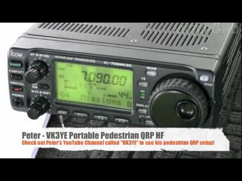 QSO with Peter VK3YE operating portable pedestrian mobile HF