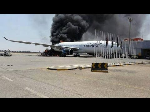 "Libyan plane explosion "" Afriqiyah Airways A330 "" 2014"