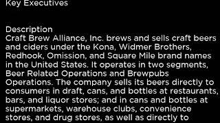 BREW Craft Brew Alliance, Inc  BREW buy or sell Buffett read basic