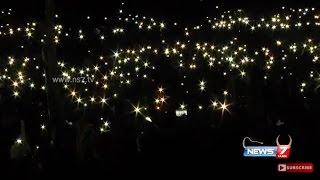 Jallikattu protesters lights up Marina beach with mobile torch lights | News 7 Tamil