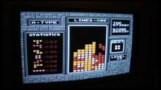 video My tetris in a row-record with PAL tetris starting level 9 as far as I know (I have taped). Probably I have sometimes got more but I have no idea about that.