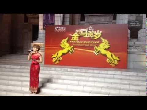 Singapore Emcee Charissa Seet hosts China Telecom Chinese New Year Dinner 2014