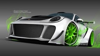 Monster Porsche Hurricane Concept Design