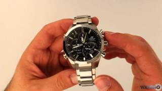 Casio Bluetooth Watch Edifice Tough Solar Chronograph Black EQB-500D-1AER - Hands On Review