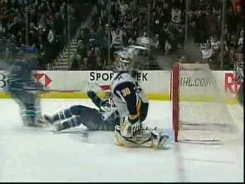 Henrik Sedin nice goal on Ryan Miller Video