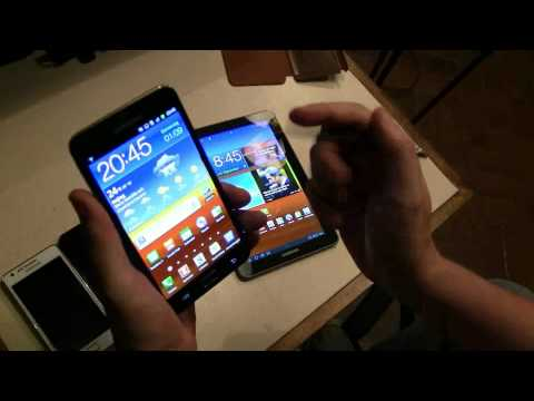 Samsung Galaxy Note vs Galaxy Tab 7.7 vs Galaxy S2 4G vs Galaxy S2