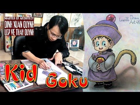 drawing Son Goku Kid - dragon ball super (step by step tutorial)