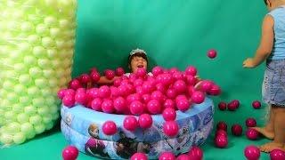 Balls for Kids Children Toddlers Games room with Spiderman Kinder Joy and Lollipops