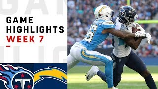 Titans vs. Chargers Week 7 Highlights | NFL 2018 in London