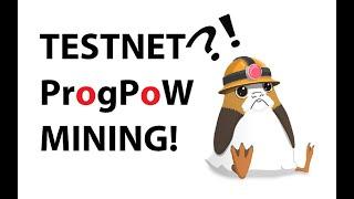 Mining on the ProgPoW Gangnam Ethereum Testnet!