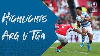 HIGHLIGHTS: Argentina v Tonga - Rugby World Cup 2019