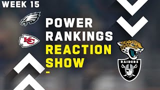 Week 15 Power Rankings Reaction Show