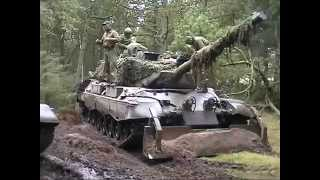 Manöver Dänische Armee Truppenübungsplatz Oksbol November 2002 Leopard 1 DK M113 G3 Army Teil 2