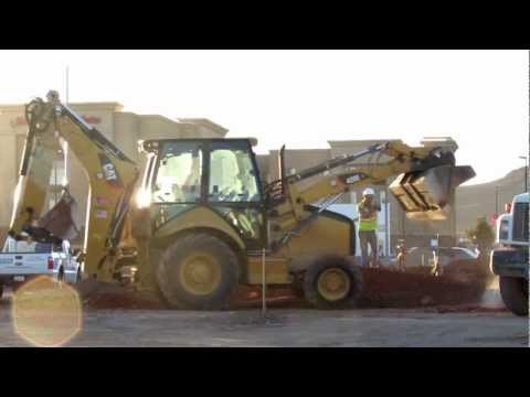 CAT 420E IT Backhoe Loader Tractor Working. Caterpillar
