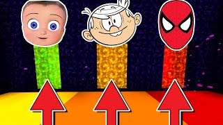 Do Not Choose The Wrong Portal! (Johny Johny Yes Papa, Loud House, Spiderman)