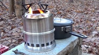 WOLFYOK Wood Gasifier Camp Stove