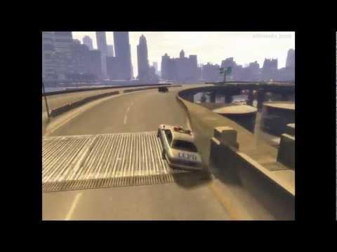 GTA 4 IV Car Bridge Accident / ГТА4 Супермен 2