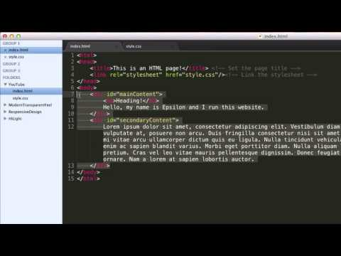 HTML & CSS Tutorial: Divisions, IDs and Classes