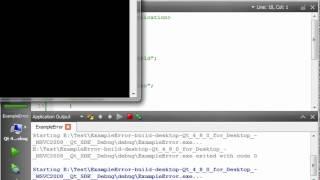 C++ Qt 103 - Error Handling