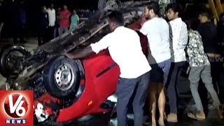 Speeding Car Rammed Into Hussain Sagar, 4 Injured   Hyderabad