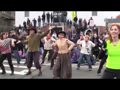 Flash Mob -  America's Hometown Thanksgiving Celebration Parade 2012 - Plymouth MA