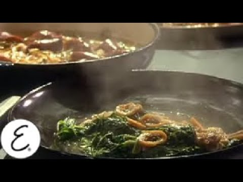 Spinach Sauteed with Garlic, Figs, and Honey - Emeril Lagasse
