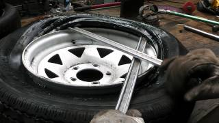 Trailer Tire Replacement by Hand