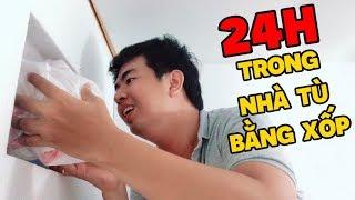 Thử Thách 24h Sống Trong Nhà Tù Làm Bằng Xốp | 24h in House From Porous