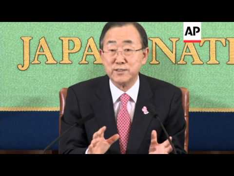 UN Secretary General on Afghanistan and Syria