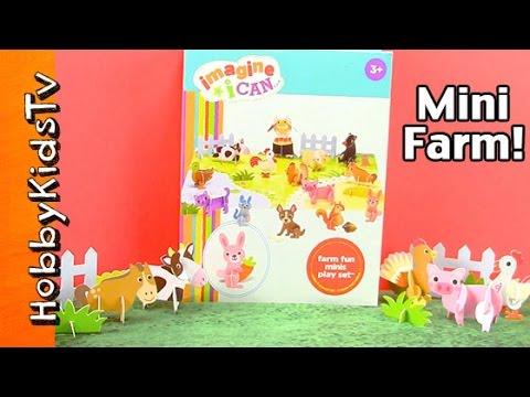 Animal Farm Imagine Mini Farm Build Set, Fun Interactive Play By Hobbykidstv video
