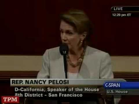 Speaker Nancy Pelosi (D-CA) Floor Speech Before Bailout Vote